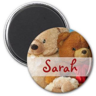 Cute Teddy Bear Friends 2 Inch Round Magnet