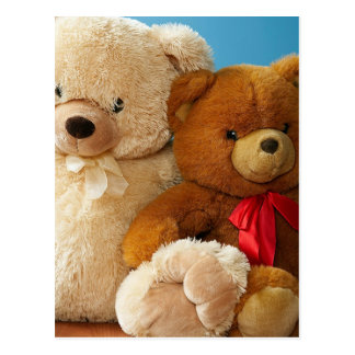 Cute Teddy Bear Friends Postcard