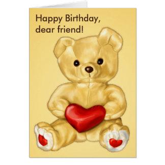 Cute Teddy Bear Hypnotist Friend Birthday Greeting Card