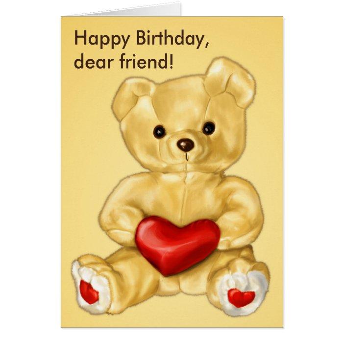 Cute Teddy Bear Hypnotist Friend Birthday Cards