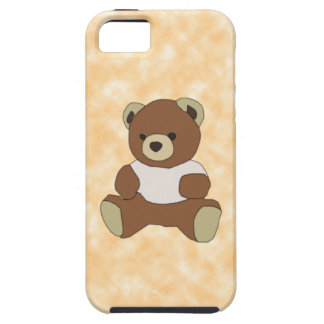 Cute Teddy Bear In Pink TShirt on Peach Background iPhone SE/5/5s Case