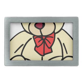 Cute teddy bear in soft tan belt buckle