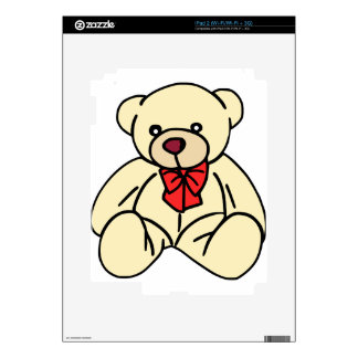 Cute teddy bear in soft tan decal for iPad 2