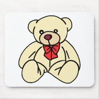 Cute teddy bear in soft tan mouse pad