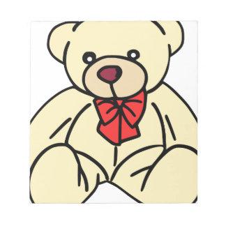 Cute teddy bear in soft tan notepad