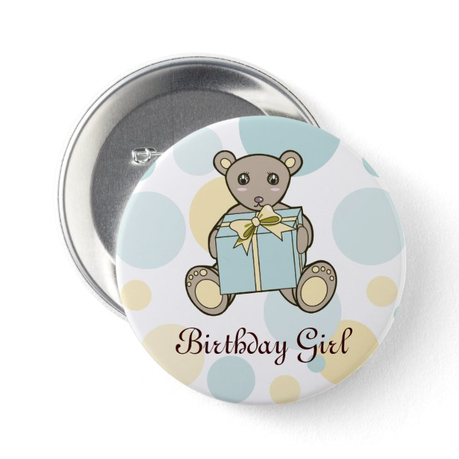 Cute Teddy Bear Kids Birthday Personalized