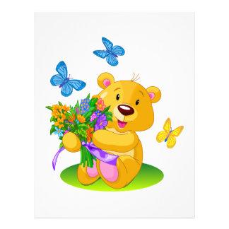 Cute teddy bear personalized letterhead