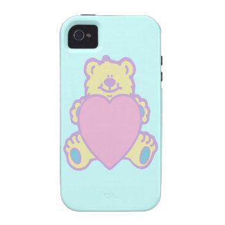 Cute Teddy Bear Love Heart iPhone 4 Cases