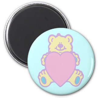 Cute Teddy Bear Love Heart Magnet