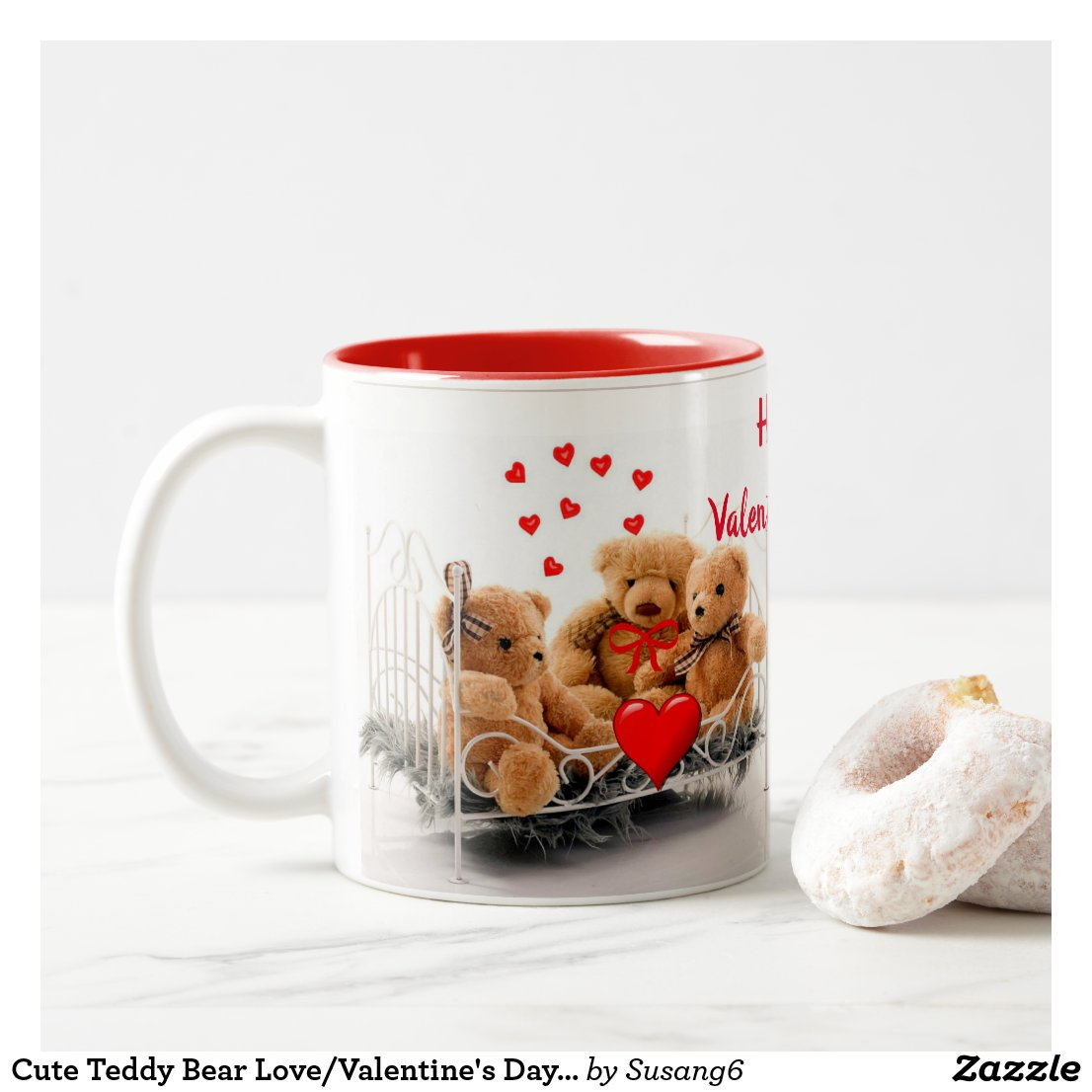 Cute Teddy Bear Love/Valentine's Day Mug