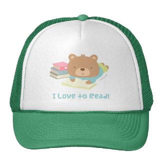 Cute Teddy Bear Loves To Read For Kids Trucker Hat