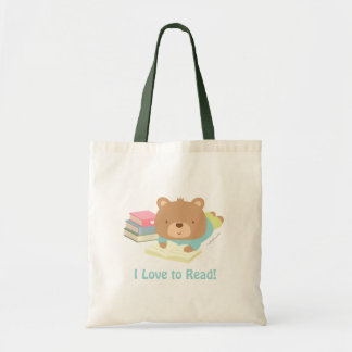Cute Teddy Bear Loves To Read For Kids Tote Bag