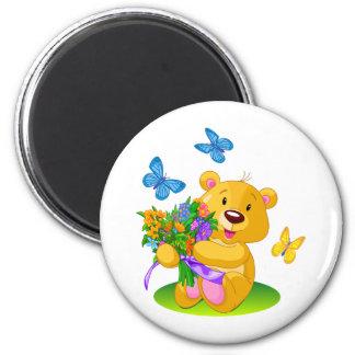Cute teddy bear magnet