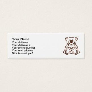 Cute teddy bear mini business card
