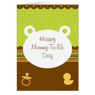 Cute Teddy Bear Mommy-To-Be Card