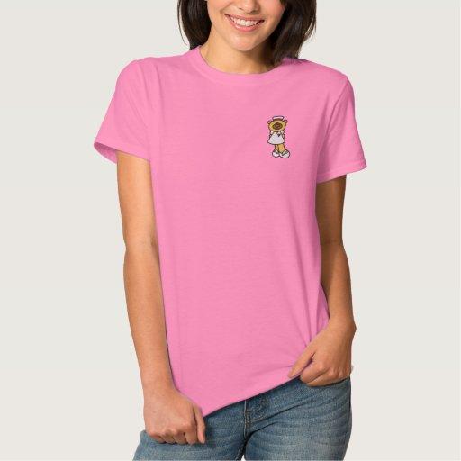 Cute Teddy Bear Nurse Embroidered Shirt