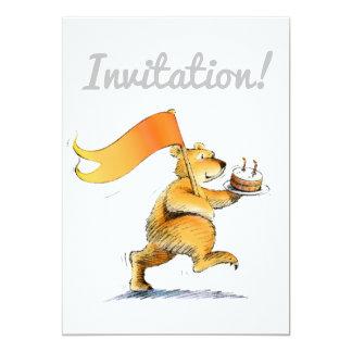Cute Teddy Bear Party Invitation