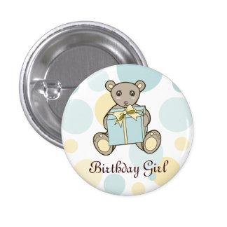 Cute Teddy Bear Pastel Kids Cartoon Birthday 1 Inch Round Button