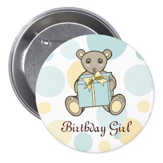 Cute Teddy Bear Personalized Button