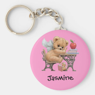 Cute Teddy Bear Personalized Name Gift Keychain