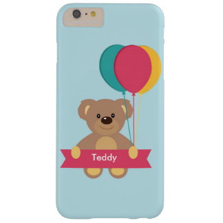 Cute Teddy bear Personalized Name Toug Barely There iPhone 6 Plus Case