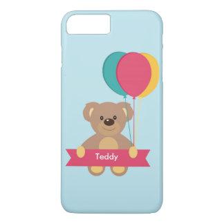 Cute Teddy bear Personalized Name Toug iPhone 8 Plus/7 Plus Case