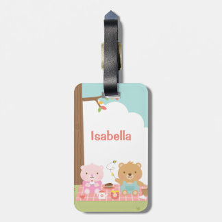 Cute Teddy Bear Picnic Party Outdoor For Kids Luggage Tag