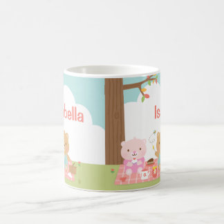 Cute Teddy Bear Picnic Party Outdoor For Kids Classic White Coffee Mug