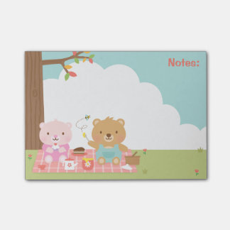 Cute Teddy Bear Picnic Party Outdoor For Kids Post-it® Notes