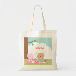Cute Teddy Bear Picnic Party Outdoor For Kids Tote Bag
