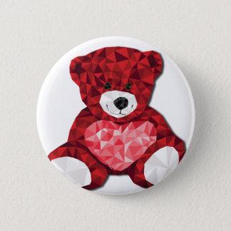 Cute teddy bear pinback button