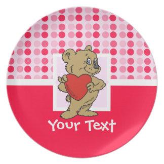 Cute Teddy Bear Party Plates