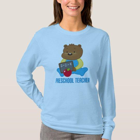 Cute Teddy Bear Preschool Teacher Gift T-Shirt
