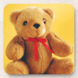 Cute teddy bear print coaster