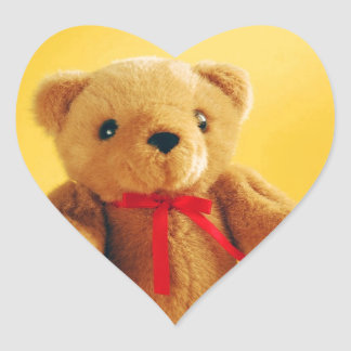 Cute teddy bear print sticker