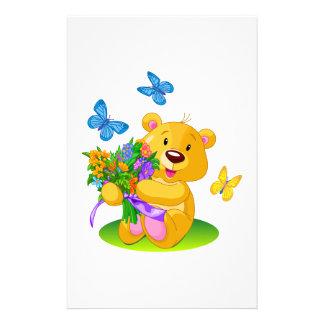 Cute teddy bear stationery