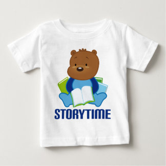 Cute Teddy Bear Storytime Kids Tee Shirt