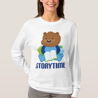 Cute Teddy Bear Storytime Womens Tee Shirt