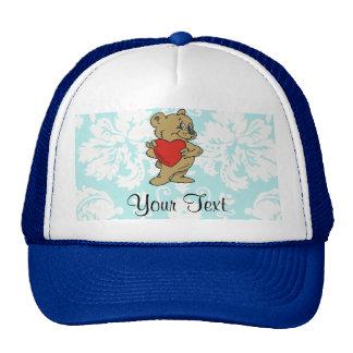 Cute Teddy Bear; Teal Trucker Hat