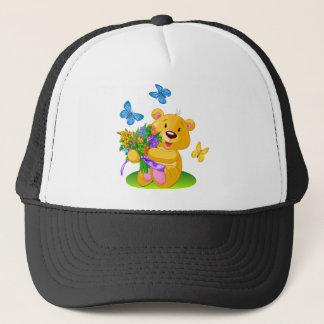 Cute teddy bear trucker hat