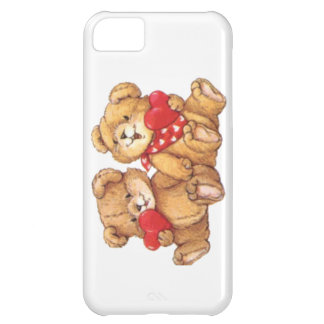 Cute Teddy Bear Valentine Couple iPhone 5C Covers