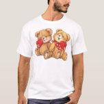 Cute Teddy Bear Valentine Couple T-Shirt