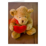 Cute Teddy Bear Valentine Greeting Card