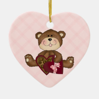 Cute Teddy Bear Valentine Ornament