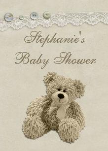 teddy bear baby shower invitations zazzle