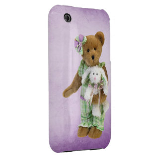 Cute Teddy Bear with Bunny Case-Mate iPhone 3 Cases