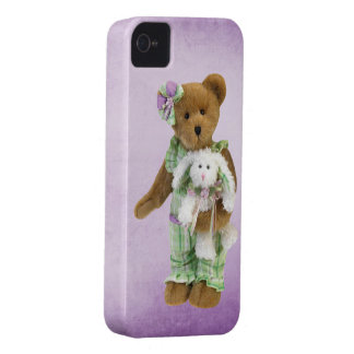 Cute Teddy Bear with Bunny iPhone 4 Cover