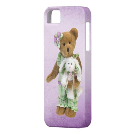 Cute Teddy Bear with Bunny iPhone SE/5/5s Case