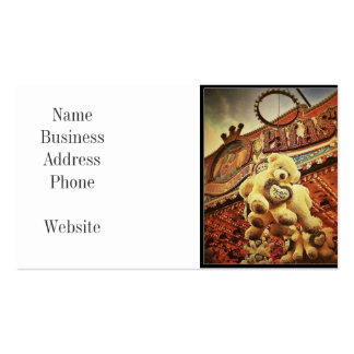 Cute Teddy Bears at the Carnival Double-Sided Standard Business Cards (Pack Of 100)