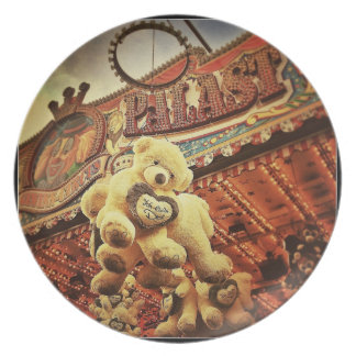 Cute Teddy Bears at the Carnival Plate
